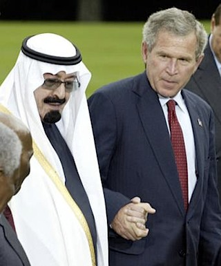 Bush family and in laden. The Bush family